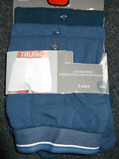 Mens 3pack Navy Cotton Trunks XXLarge Bargain First Class Post