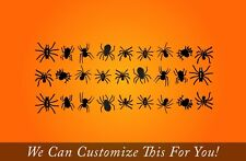Spider Pack of 24 spiders for halloween home decor vinyl decal stickers 2202