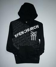 **Stock Clearance** New Mens Urban Style Fenchurch Black Graphic Hoodies UK S