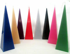 Mystic Aura Pyramid Candles 35 hrs appr 6cm x 22cm + free anointing oil