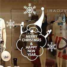 Merry Christmas Happy New Year Snowflake Snowman window Decal wall stickers UK