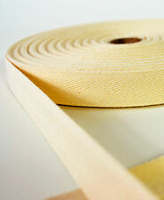Cotton Herringbone Webbing 25mm - Natural - 1 Metre to 50 Metres  Bag Straps etc