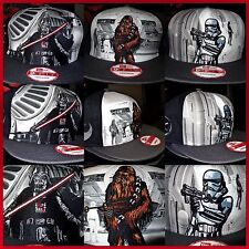 STAR WARS Snap Hat New Era 9FIFTY Stormtrooper Vader Chewbacca Snapback Cap Mens