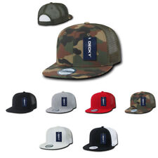 1 Dozen DECKY Flat Bill Baseball Trucker Constructed Caps Cap Hats Wholesale Lot