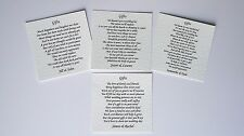 30 Wedding Poem Cards For Your Invitations - Money Cash Gift - Choice of 4 Poems