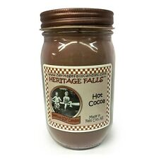Heritage Falls Chocolate, Hot Cocoa or Marshmallow Scented Pint Jar Soy Candles