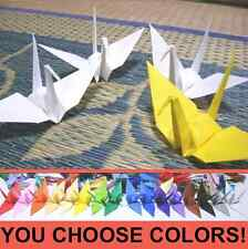 "100x 3in (75mm) ORIGAMI PAPER CRANES. Handmade Japan. Wedding. 3"" Many Colors!"