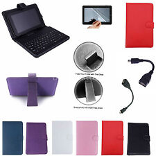 "Colorful Keyboard PU Case Cover+Free Film For 9"" ZTO 9-Inch Android 4.1 Tablet"