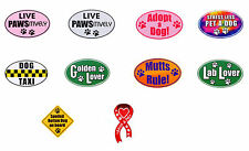 Pet Car Magnets Rescue Adopt Ribbon Lab Lover Golden Lover Mutts Rule Dog Taxi
