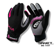 2014 Spakct Women's Cycling Full Finger Gloves New-Galaxy Pink