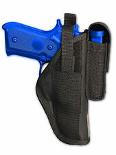 Barsony OWB Gun Holster w/ Magazine Pouch for Smith & Wesson Full Size 9mm 40 45