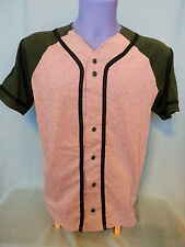 Badger Colorblock Braided Baseball Jerseys Men's Gray Forest Button Front 7859