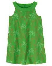 NWT Gymboree PALM BEACH PARADISE Green Embroidered Flamingo Girls Dress Size 7