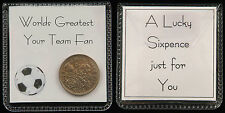 Football Lucky Sixpence Gift - 25 Teams to choose from, or personalise your team
