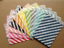 25 PCS Diagonal Striped Cake Snack Popcorn Fries Hamburger Food Oil Paper Bags