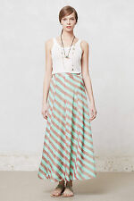 Anthropologie Minted Terra Skirt Sz S & M, Striped Silk Maxi Skirt By Anupamaa
