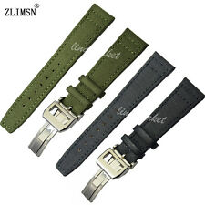 20 21 22mm Black or Green NEW Nylon leather bottom WATCH BAND strap For IWCwatch