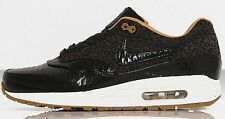 NIKE AIR MAX 1 FB WOVEN Black Quilted Leopard running trainers sneakers new
