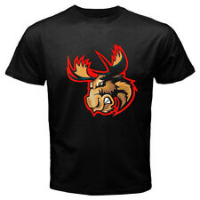 New MANITOBA MOOSE AHL Hockey Winnipeg Retro Men's Black T-Shirt Size S to 3XL