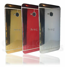 Chrome Metal Skin For HTC ONE M7 Wrap Cover Sticker Decal gold silver red