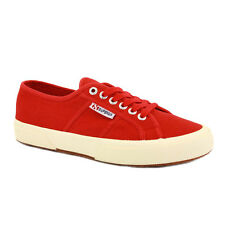 Superga Trainers 2750 Cotu Classic Unisex Shoes Laced Canvas Red
