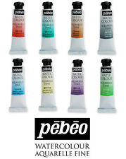 Pebeo Aquarelle Fine Watercolour Paint 10ml Tubes | Full Colour Range