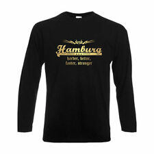 Longsleeve Hamburg, harder better faster stronger, Städteshirt (SFU10-12b)