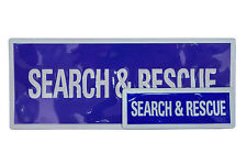 Reflective Search and Rescue Badges Sew on OR with Velcro Backing