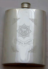 ENGRAVED MILITARY HIP FLASK: CHESHIRE REGIMENT