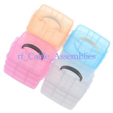 New 3 Layer 18 Compartments Plastic Storage Box Cosmetic Case With a Handle