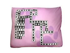 New & Unique Crossword Puzzle Dog Bed ! Bring The Outdoor In .You Will Love It