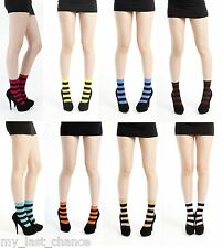 Pamela Mann Twickers Striped Nylon Ankle Socks Witch Halloween costume