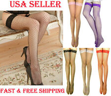 Super Sexy Pretty Ladies Lace Top Medium Fish Net Stockings Pantyhose-Multicolor
