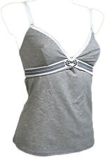 "DOLCE & GABBANA ""Goddess"" womens camisole stretch-cotton (gray) NEW"