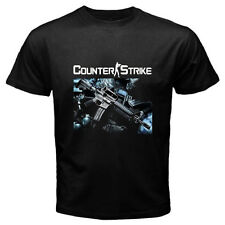 New COUNTER STRIKE *Gun Logo Online Games Men's Black T-Shirt Size S to 3XL