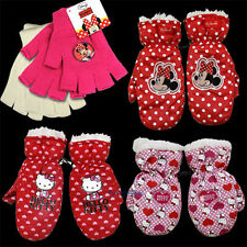 Hello Kitty Minnie Mouse Handschuhe fingerlos Fäustlinge Winterhandschuhe Kinder