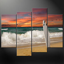 SURFING BOARD PREMIUM CASCADE CANVAS PRINT PICTURE MANY SIZES FREE UK P&P