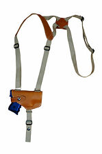 NEW Barsony Horizontal Tan Leather Shoulder Holster Sig-Sauer  Comp 9mm 40 45