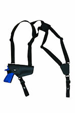 NEW Barsony Horizontal Black Leather Shoulder Holster for Smith&Wesson Full Size