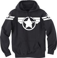 Super Soldier Hoodie - Captain America | Black, Gildan, Cotton Blend