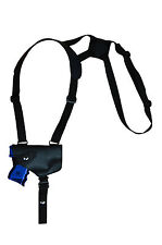 NEW Barsony Horizontal Black Leather Shoulder Holster Steyr, Walther Comp 9mm 40