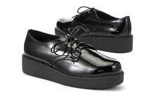 WOMENS LADIES PATENT  back to school  GOTH PUNK CREEPERS SHOES BOOTS SIZE