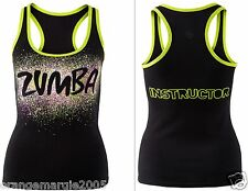 ZUMBA FITNESS Dance INSTRUCTOR RacerBack Top Shirt Tank Tee -fr.Convention RARE!