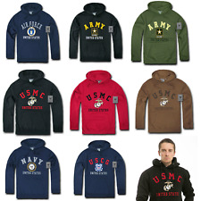 Pullover Hoodie Sweatshirt US Military Navy Air Force Army Marines Coast Guard