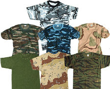 ARMY COMBAT MILITARY T-SHIRT AMERICAN US ARMY STYLE CAMO TEE