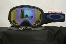 OAKLEY CANOPY MEDIEVAL BLUE HI YELLOW BLACK IRIDIUM FIRE MASCHERA SNOW
