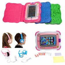 Leather Book Case Headphones & Screen Protector for vTech InnoTab 2 Value Bundle