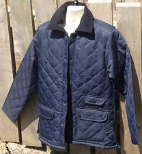 Quilted Mens Navy Outdoor Hunter Military Coat Jacket ★ Size L, XL