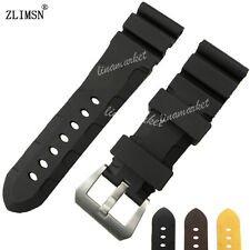 24mm 26mm NEW Top Grade Black Diving Silicone Rubber Pin Buckle Watch BAND Strap