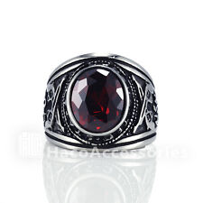 Quality Men's 316L Stainless Steel Crystal Ring smssr35r  8 10 12 13 14